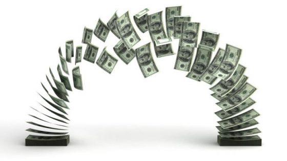 Brücke aus Geldscheinen
