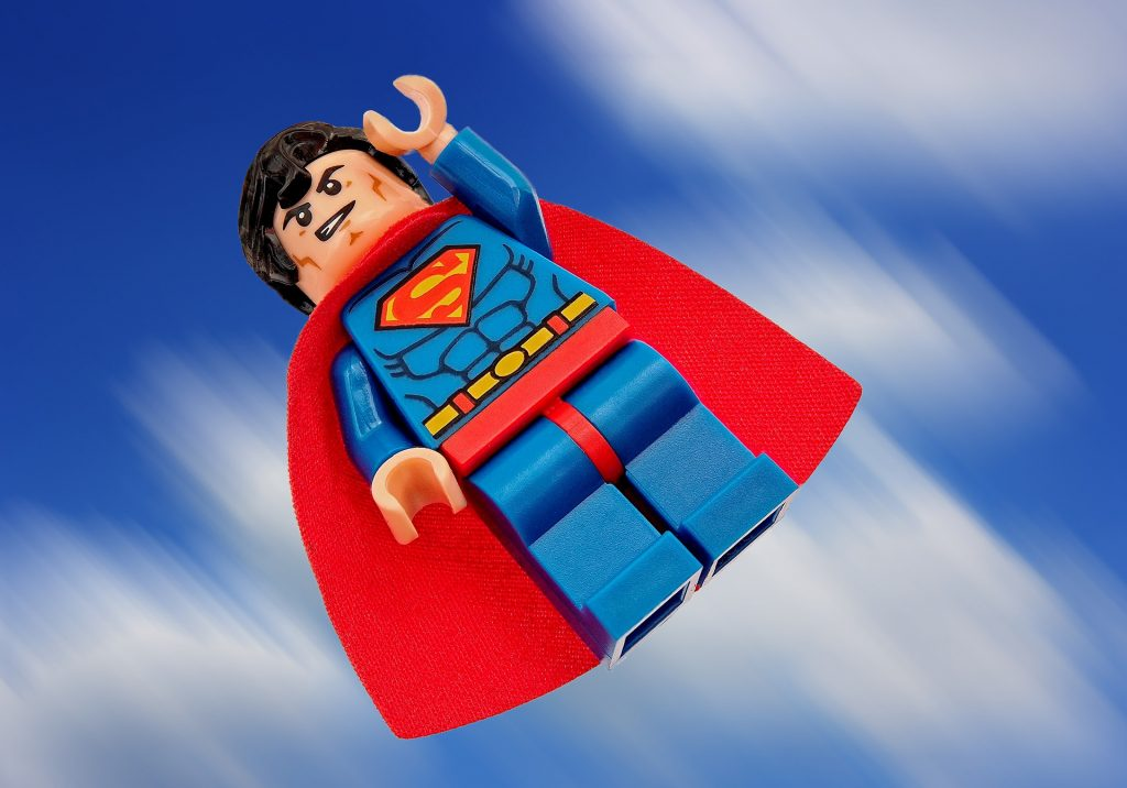 fliegender LEGO-Superman